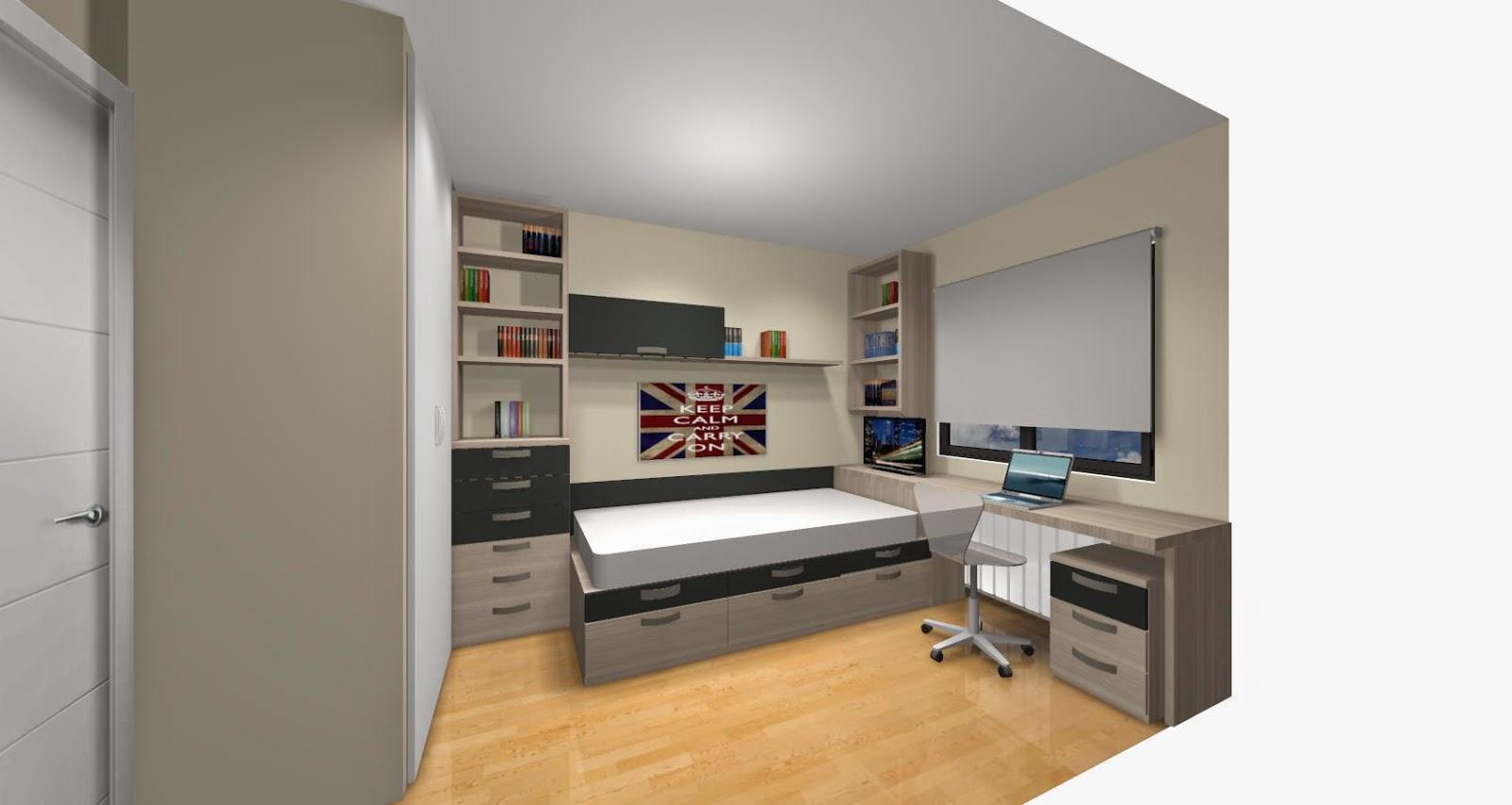 Este dormitorio ambientado para una habitaci n de - Como enfriar una habitacion ...