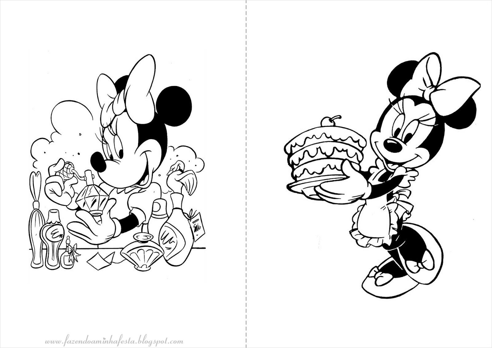 desenhos para colorir minnie e mickey