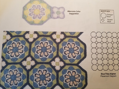 Crochet Blue Tiles Afghan Chart