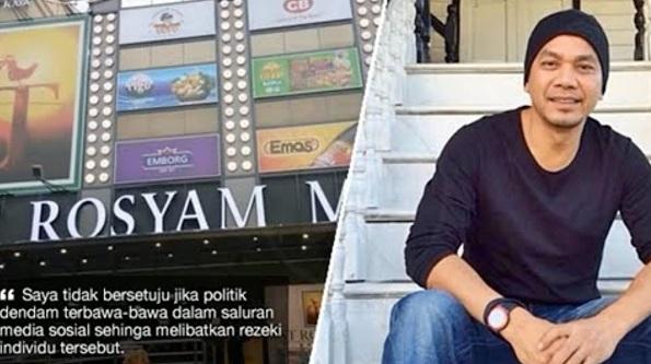Kerana Perbezaan Politik,Ada Netizen Berpakat Boikot Pasaraya ST Rosyam Mart Yang Baru Dibuka. Ini Respon Rosyam Nor Memang Terbaik…