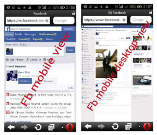 Facebook mobile and Desktop view url link
