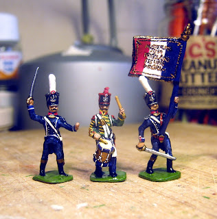 DK 13: Der Kriegspielers French Line Infantry 1812, Command, painted as light infantry