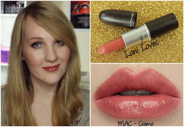 MAC Cosmo lipstick swatch