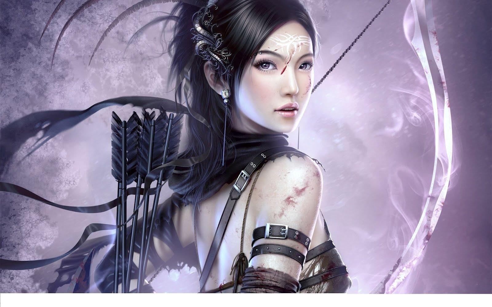 Warrior girl anime character hd wallpaper download hd - Anime female warrior ...