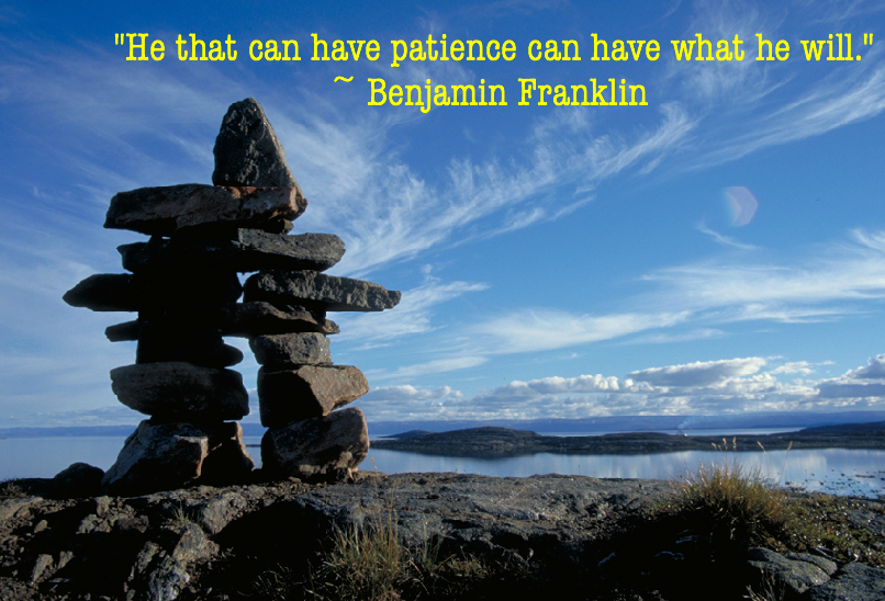 Funny Wallpaper Have Patience Famous Franklin Quote