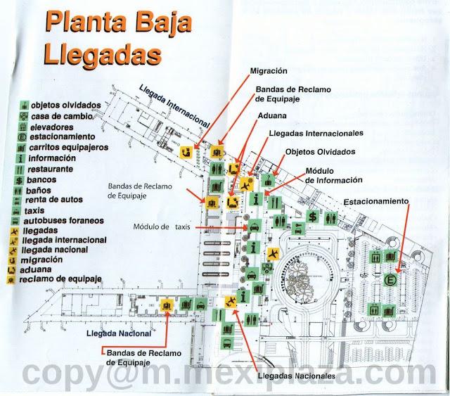 Planta Baja Llegadas - AICM - Terminal 2