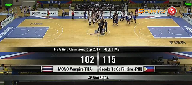 Chooks-to-Go Pilipinas def. Mono Vampire BC, 115-102 (REPLAY VIDEO) FIBA Asia Champions Cup 2017