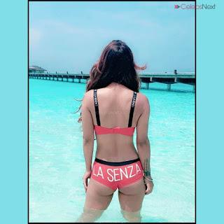 Neha Malik in Red Bikini Beautiful Actress Model Sizzling Spicy Bikini Pics .XYZ Exclusive 11