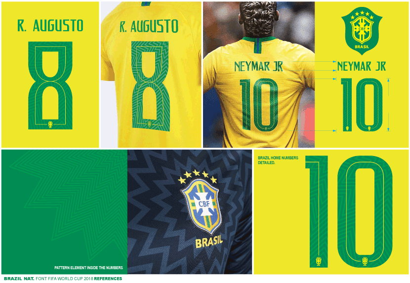 b1a91ff43 Each number of the Brazil 2018 World Cup typeface boasts a subtle zig-zag