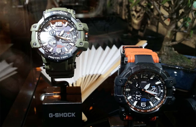 G-Shock Uhren in Orange und Army Grün