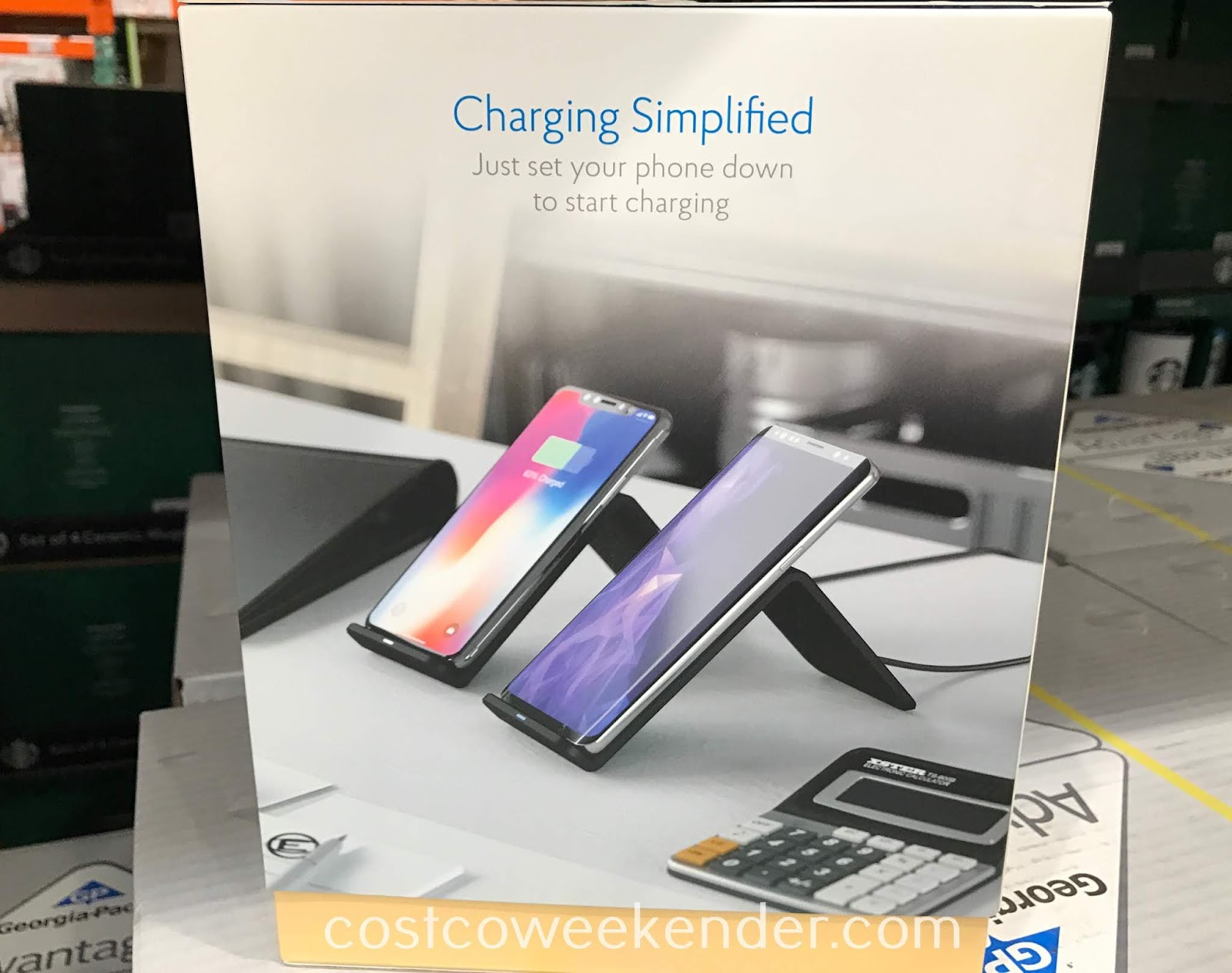 Costco 1242813 - Atomi Qi Wireless Charging Stands: leave one at the office and one at home