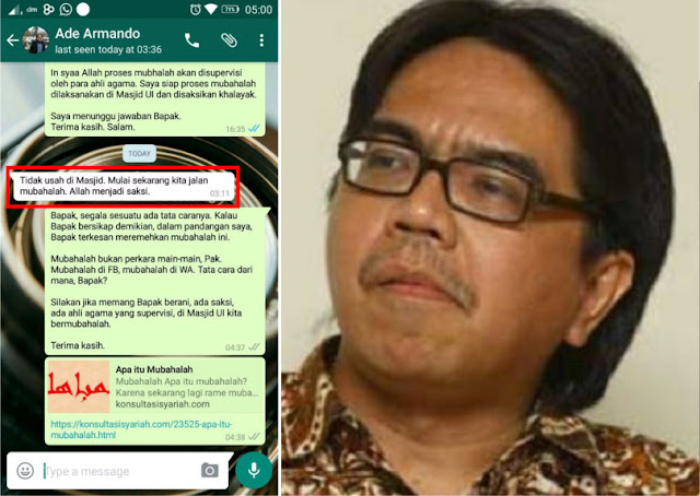 Ngeles! Dosen UI Pendukung Ahok Ade Armando Mendadak Tidak Mau Mubahalah di Masjid