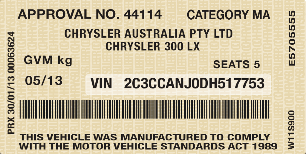 Order vehicle vin stickers autos post for Motor vehicle id price