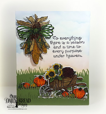 Our Daily Bread Designs Stamp Sets: Seasons Change, A-Maize-ing,Our Daily Bread Designs Custom Dies: Indian Corn, Grass Hill, Grass Lawn, Wheelbarrow