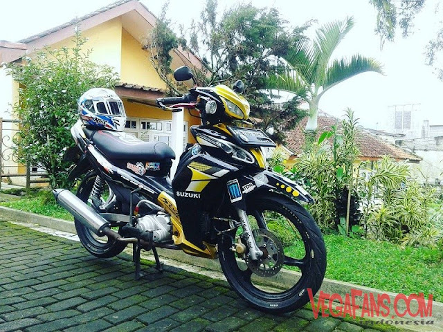 Modifikasi Jupiter Z New Hitam Kuning Modif Touring Simple