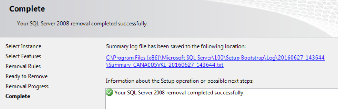 Uninstalling SQL Server from the Command Line to Remove Unwanted