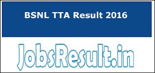 BSNL TTA Result 2016