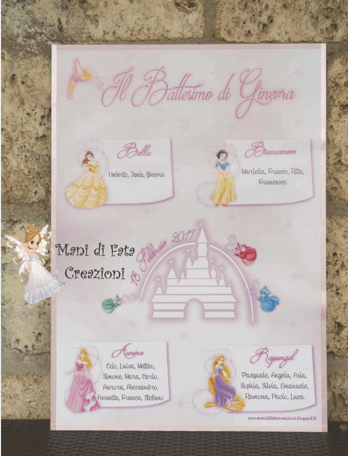 Eccezionale Mani di Fata Creazioni: Tableau Battesimo - Principesse Disney ZP01