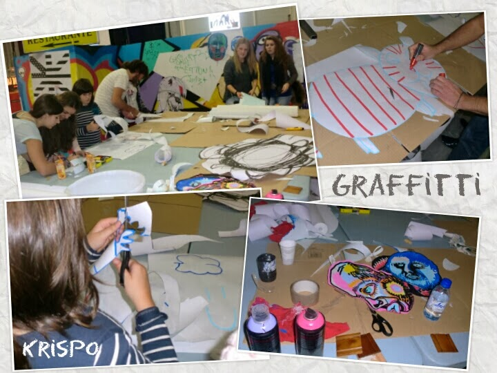 taller graffitti en fotos como collage