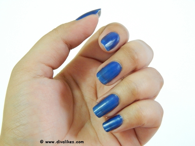 Sally Hansen I Heart Nail Art Neon Nail Color Blueberry Burst Swatch