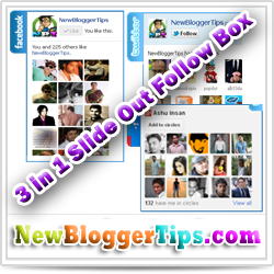 Add 3 In 1 Slide Out Follower Box Widget to Blogger