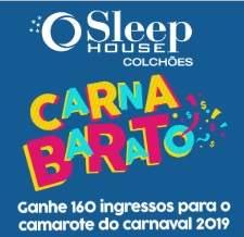 Promoção Sleep House Carnaval 2019 Ganhe 160 Ingressos Camarote São Paulo