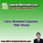 tutorial, cara, belajar, membuat, laporan, nilai, siswa, if, average, rata, rumus, microsoft, excel