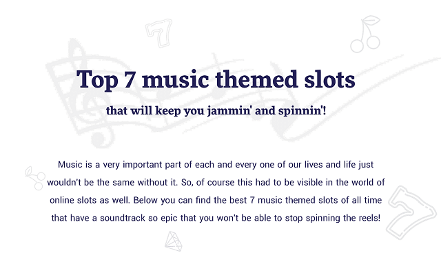 Top 7 Music Themed Slots