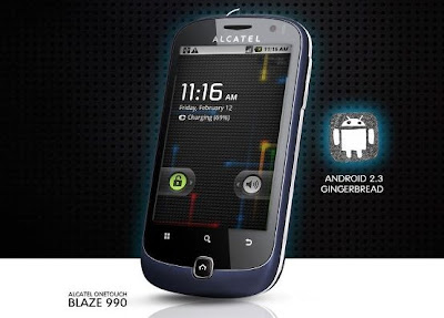 Alcatel OneTouch Blaze 990 - Android 2.3 Gingerbread