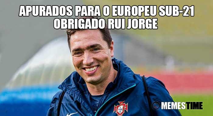 Memes Time - Rui Jorge alcança Apuramento para o Europeu de Sub-21 Polónia 2017 - Sub-21: Rui Jorge Felicidade estampada no rosto