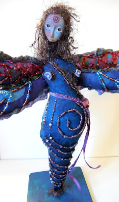 Beaded Dragonfly Spirit Doll by Jeanne Fry
