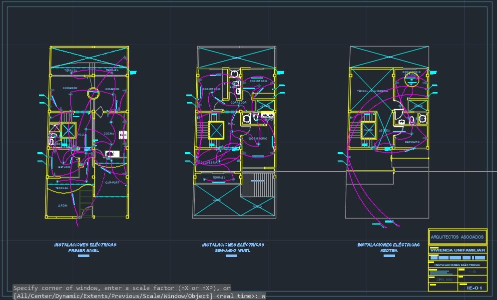 Expediente t cnico de una vivienda incluye planos for Planos electricos pdf