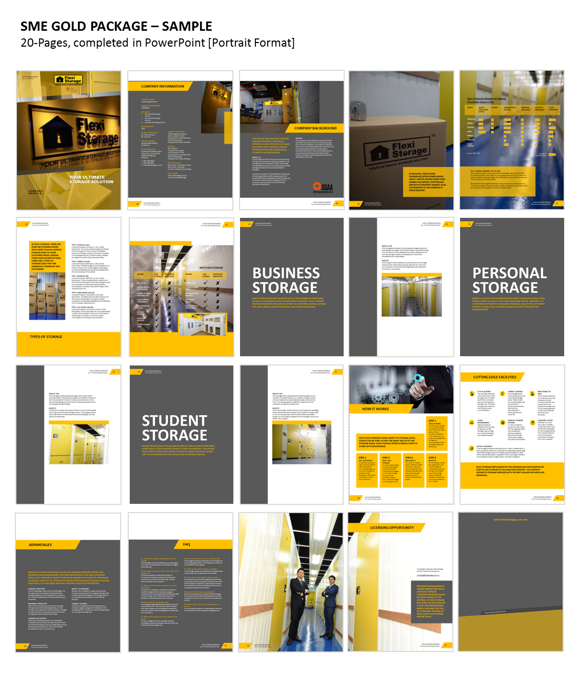 High Quality Professional Business Profile Template With Professional Business Profile Template