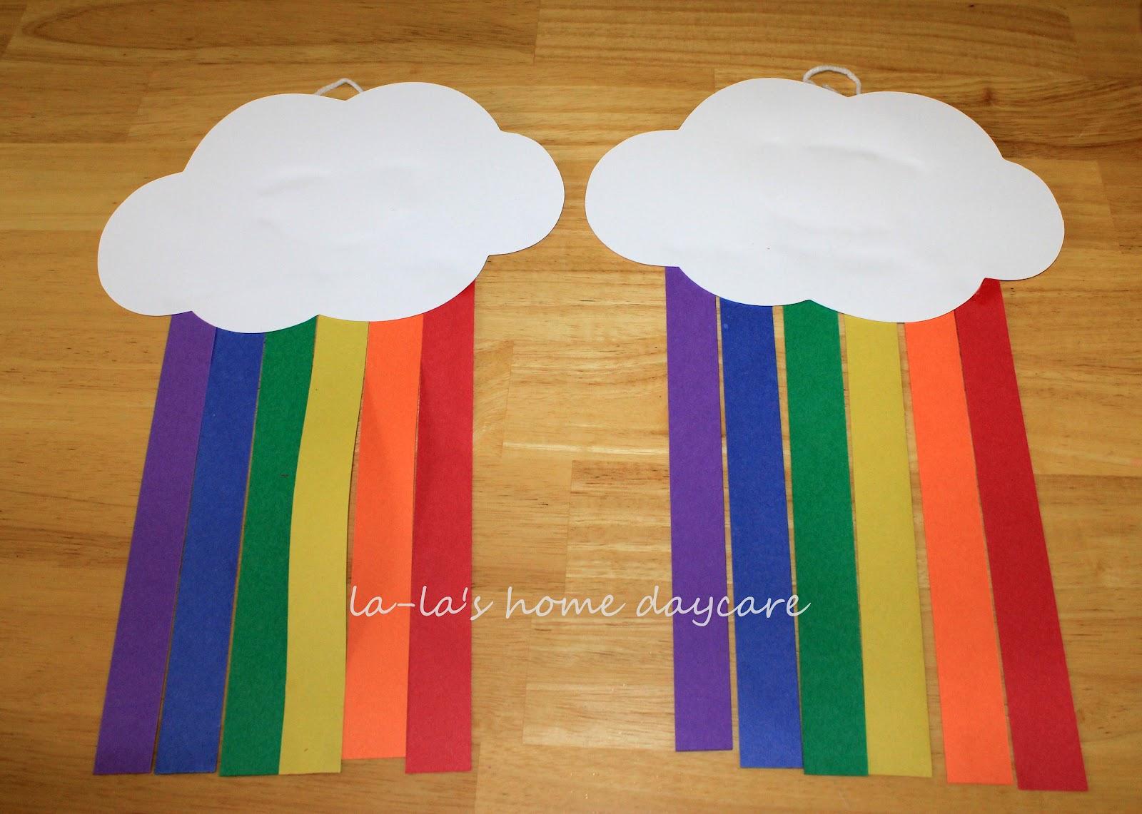 La La S Home Daycare St Patrick S Day Paper Rainbow S