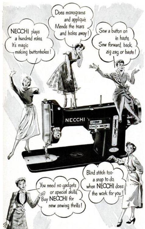 A 1950 Necchi magazine ad.
