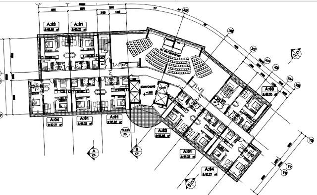 Sơ đồ chi tiết mặt bằng tầng 2 tòa T1 chung cư B1.3 Thanh Hà