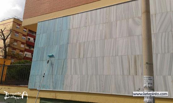 Ernesto arag n pintura para el hogar pintar una fachada for Pintura para marmol