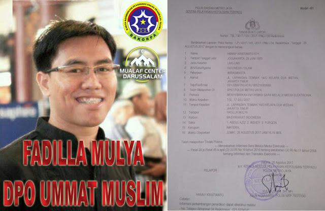 Resmi! Fadil si Penista Islam Akhirnya Dipolisikan
