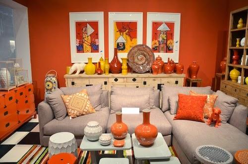 Salas decoradas con naranja y otros colores salas con estilo for Decoracion naranja