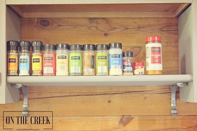 DIY Spice Shelf