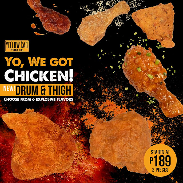 Go for Huge and Explosive with the new Yellow Cab Drum & Thigh