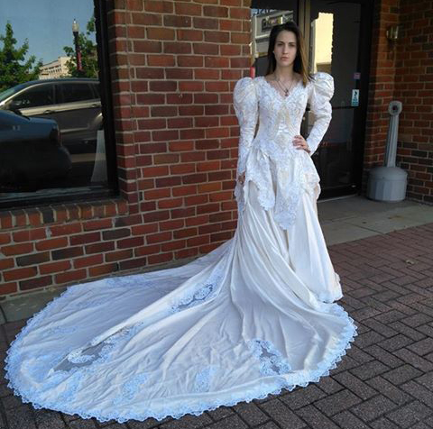 Mount pleasant for real nifty and thrifty for Thrift shop wedding dresses