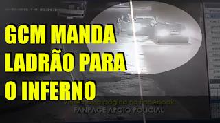 [VÍDEO] LADRÃO LEVA A PIOR AO TENTAR ROUBAR GCM
