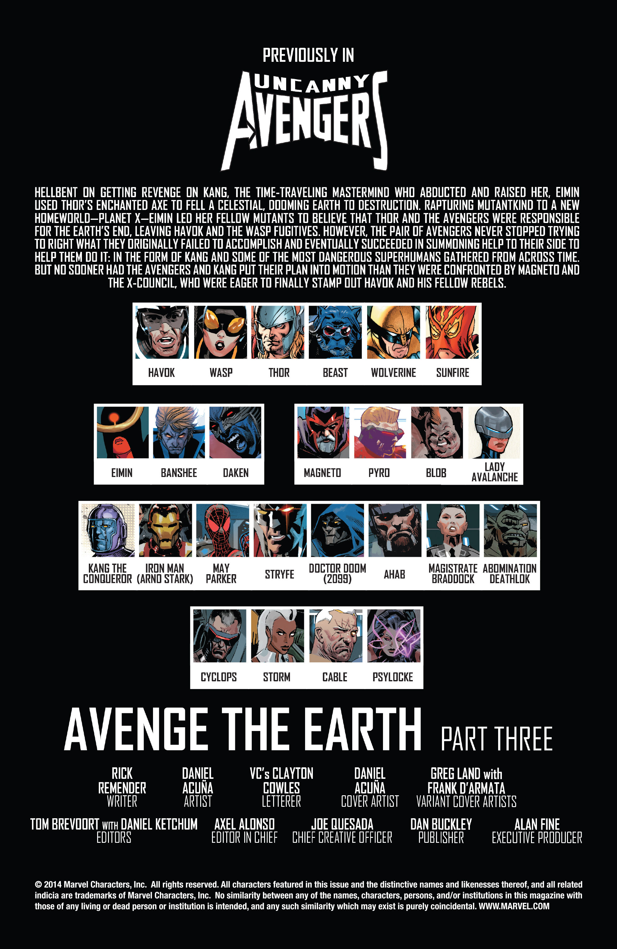 Read online Uncanny Avengers (2012) comic -  Issue #20 - 2