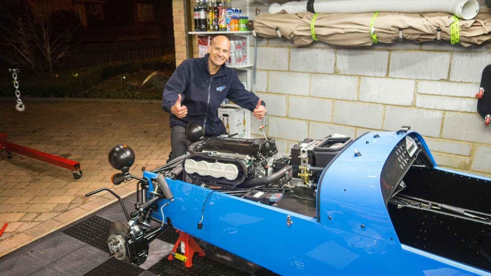 And then the engine was in - WELL HAPPY!