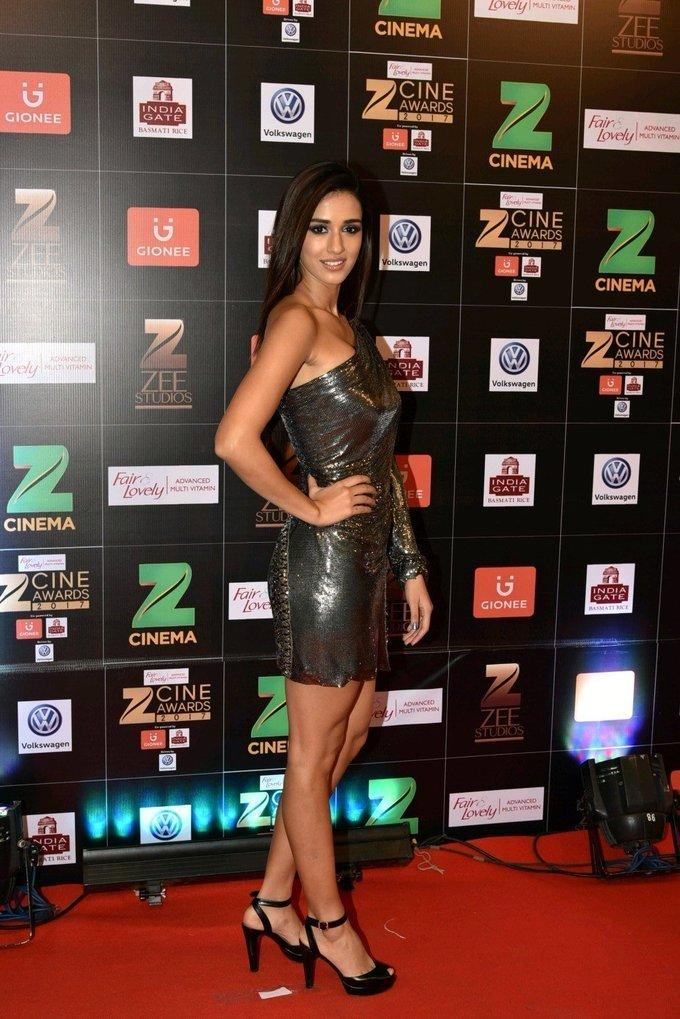 Indian Actress Disha Patani At Zee Cine Awards 2017
