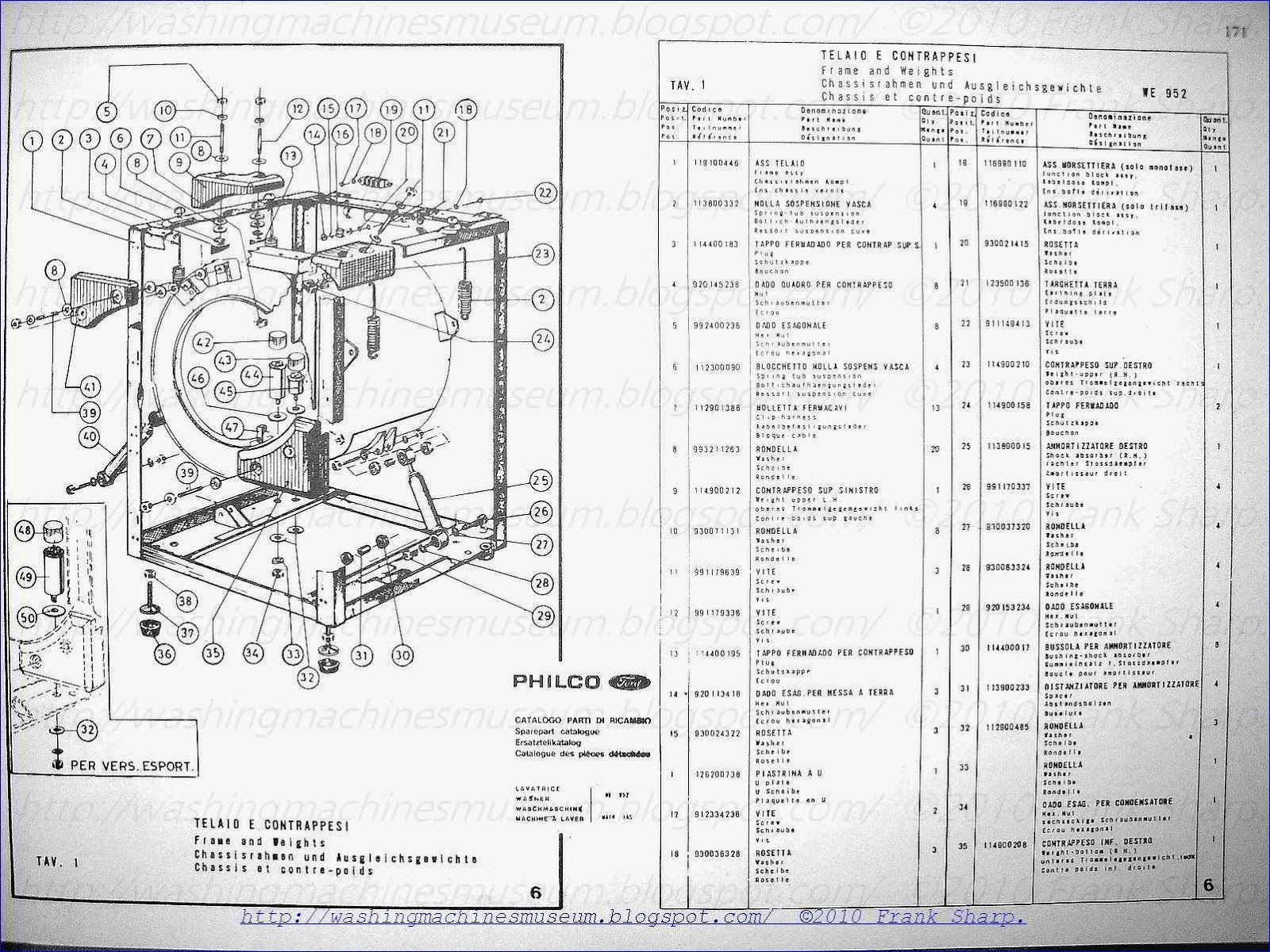 Washer Rama Museum: PHILCO FORD MOD WE952 SCHEMATIC DIAGRAM