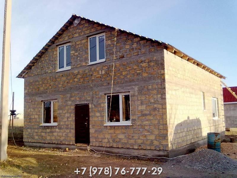 Варианты строительства домов из ракушечника в Крыму