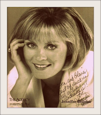 Headshot for 1980's actress Jennifer Holmes