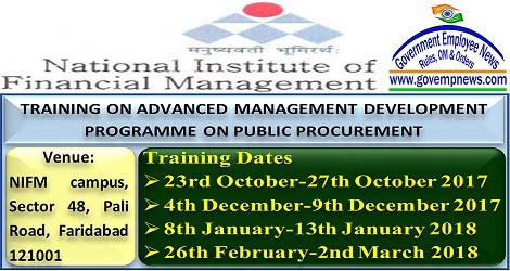 http://doe.gov.in/sites/default/files/NIFM%20Training%20on%20Advanced%20Public%20Procurement.pdf